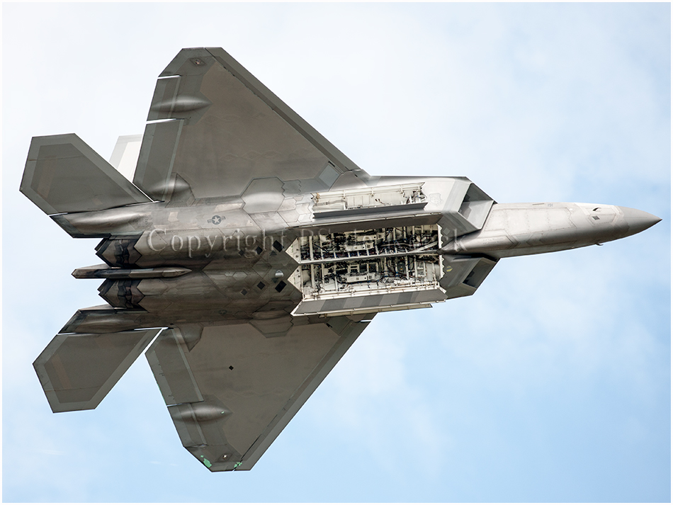 Lockheed Martin F22 Raptor stealth airplane